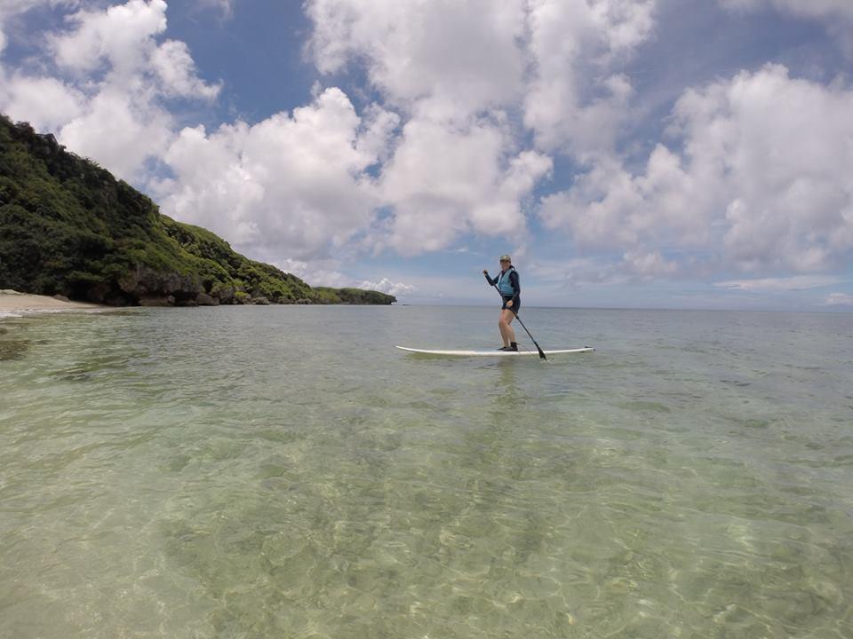 SUPスタンドアップパドル 沖永良部島の海