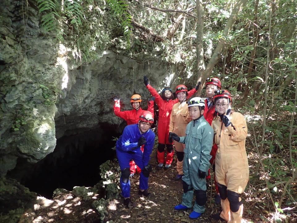 沖永良部島 ケイビング洞窟入口