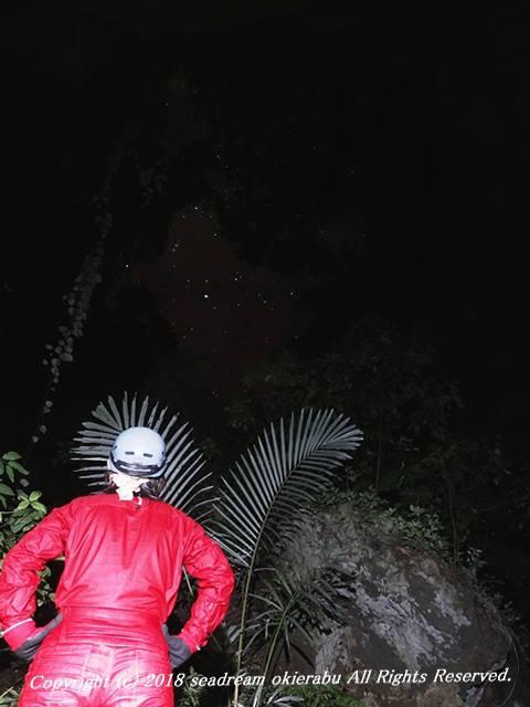 洞窟内部から星空が見える!